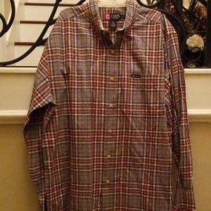 Chaps Plaid Long Sleeve Shirt